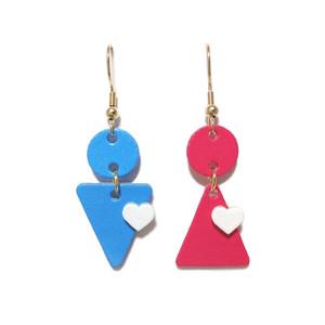男と女のピアス(Blue × red)