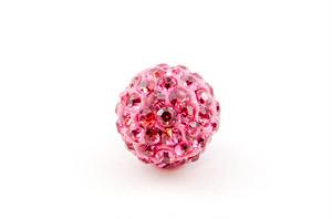 ラインストーンパヴェボール 1個 10mm ローズ ピンク pve-rose10