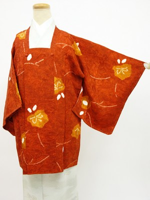☆20724☆道行コート 膨れ織 部分絞り 暈し 花模様