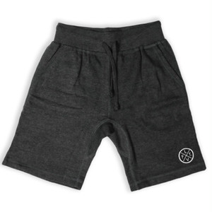 LIVE FIT Prestige Worldwide Sweat Shorts - Charcoal