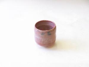 松楽 作 赤楽 筒茶碗