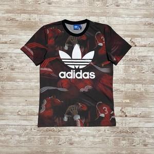 PAKAIAN adidas サッカー 総柄 Tシャツ トレフォイル デカロゴ