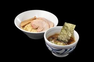 大山鶏のつけめん3食入(チャーシュー、メンマ入) 中濃鶏魚介つけ麺 浅草開化楼さなだ特注麺