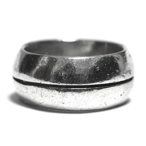 Vintage Sterling Silver Mexican Center Line Ring