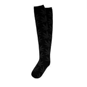 HUF PLANTLIFE THIGH HIGH SOCK BLACK