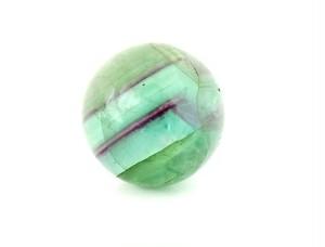 「中国産 レインボー フローライト(蛍石) オーラ(虹)入り 高品質結晶 丸玉」 約30ミリ AGZ-143
