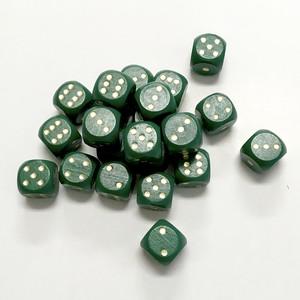 緑15mm木製ダイス(30個入り)