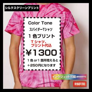 Colortone カラートーン スパイダーTシャツ (品番TD1000_S)