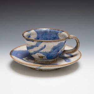 コーヒーカップ流(青)