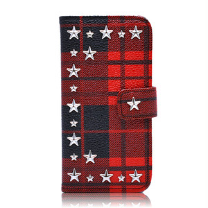 ENLA BY ENCHANTED.LA NOTEBOOKTYPE STAR STUDDED PLAID CASE
