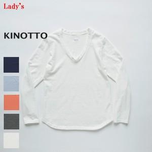 【再入荷】 KINOTTO / キノット U-Neck T-Shirts 251C-01 【Ladies'】