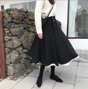 【お取り寄せ商品】レイヤードフレアスカート 9215