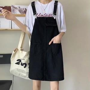 新作 オシャレ シンプル 吊りスカート カレッジ風 カジュアル 可愛い 合わせやすい スカート・ボトムス