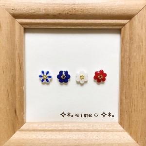 北欧 ❁小さいお花のピアスセット❁柄ミックス③
