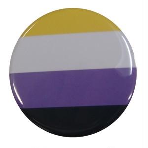 プライドフラッグ缶バッジ〈ノンバイナリー/Non-binary〉