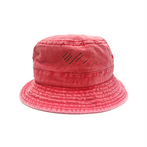 scar /////// BLOOD PIGMENT DYED BUCKET HAT (Red)
