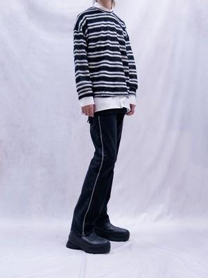 【MENS - 4 size】SIDE ZIP DENIM / Black