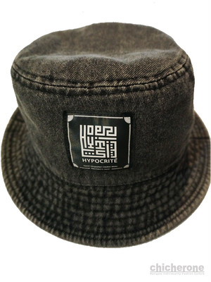 【HYPOCRITE】 The Hie Logo Backet Hat- DENIM BLACK