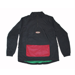 BUTTER GOODS MESH TRACK JACKET , BLACK
