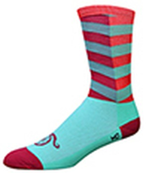 """Handlebar Mustache Aireator 6"""" CITY SOCKS Turquoise/Red"""