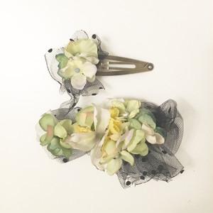 mellow / flower barrette and hair pin set4