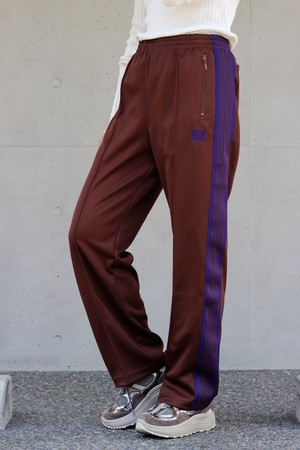 【Needles】track pants poly smooth-brown