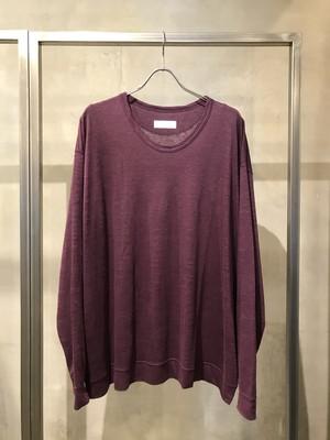 T/f wide fit linen high gauge knit top - matured berry