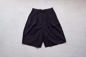 YOKO SAKAMOTO 3 TUCK EASY SHORTS (OVERDYE BLACK / size:L) [YS-20SS-27]