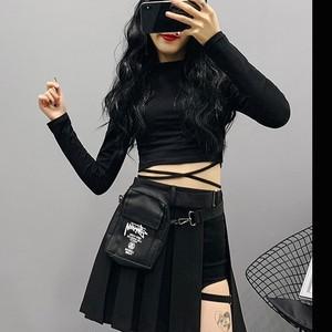 【ボトムス】ins売れ筋不規則抜群なデザインハイウエスト細見せAラインスカート