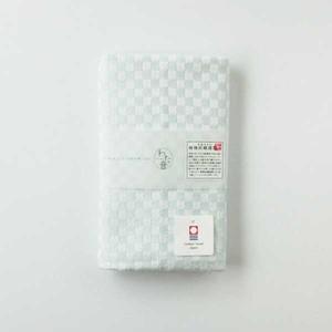 わた音カラー しゅす織り フェイスタオル/ブルー