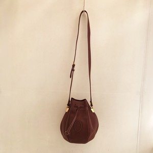 Cartier leather kinchaku shoulder bag