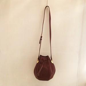 Cartier leather kinchaku shoulder bag