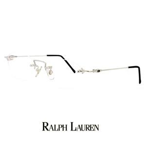 ラルフローレン メガネ rl713-pt 48mm Sサイズ 眼鏡 ralph lauren 軽量 メタル ツーポイント オーバル