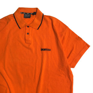 90's DKNY ネオンカラー ビッグサイズ ポロシャツ