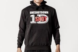 ONESHOTDOWN 2カラーロゴ プルオーバーパーカー