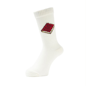 WHIMSY - HOW TO KILL A COP SOCKS (White)
