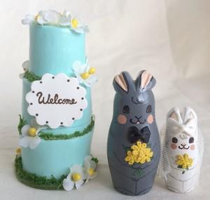 ケーキ3段型・メルヘンデコレーションケーキ・グリーン」3個組 9.5cm プレゼントにも最適!