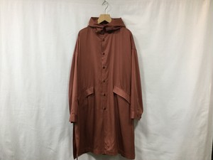 """WHOWHAT""""HOODED SHIRT COAT BROWN"""""""