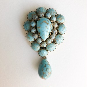 turquoise brooch[b-249]