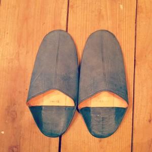 モロッコ バブーシュ Blue gray (メンズ 28cm))