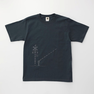 Tシャツ|踏切 ( Slate Blue × Dark Gray)