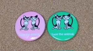 動物支援グッズ Save the animal バッチ