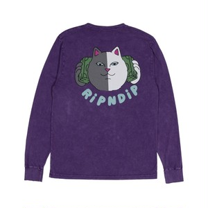 RIPNDIP - Money Talks L/S (Purple Mineral Wash)