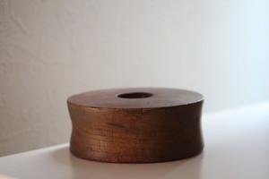 風合いのよい木製の台(滑車か?) Antique Japanese Wooden Stand 19th-20th C