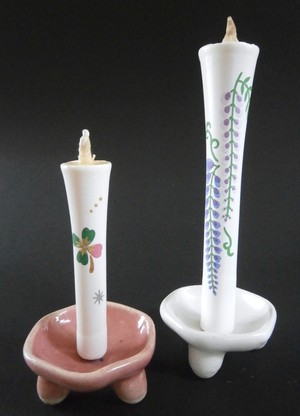 燭台 陶製