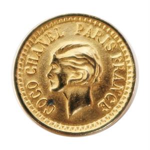 【VINTAGE CHANEL BUTTON】ゴールド コイン ココ・シャネル ボタン 23mm