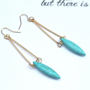 Turquoise Drop Hook pierce