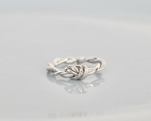 Knot rope silver ring