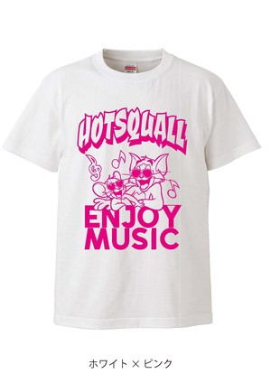 "HTSQ ""T&J"" Tee White×Pink 【オンライン限定】"