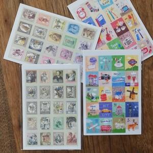 切手型シール